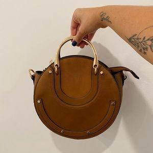 Melie Bianco | Harley Brown Round Tote Bag